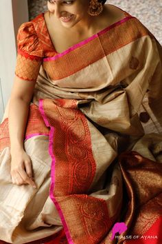 Buy Banarasi Silk Sarees Online | Banarasi Silk Saree Shop In Chennai - House of Ayana