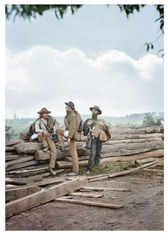 This is a colorized version of a photo Shelby Foote regarded as an epitomization of the soldiers.
