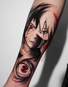 Comics, Geek, Nerd e Otaku: As tatuagens inspiradas nos personagens de quadrinhos, mangás e animes! Manga Tattoo, Z Tattoo, Anime Tattoos, Black Tattoos, Cute Tattoos, Tattoos For Guys, Small Tattoos, Mangekyou Sharingan, Madara Uchiha
