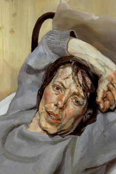 artist-freud: Woman in a Grey Sweater 1988 Lucian Freud. Lucian Freud Portraits, Lucian Freud Paintings, David Hockney, Figure Painting, Painting & Drawing, Figurative Kunst, Edward Hopper, Sigmund Freud, Art Moderne