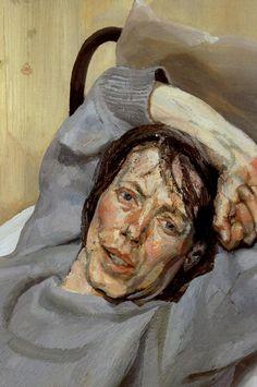 artist-freud: Woman in a Grey Sweater 1988 Lucian Freud. Lucian Freud Portraits, Lucian Freud Paintings, David Hockney, Figure Painting, Painting & Drawing, Figurative Kunst, Bella Freud, Edward Hopper, Art Moderne