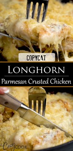This Copycat Longhorn Parmsan Crusted Chicken recipe has an easy marinade and a delicious Parmesan Crust that s baked on top It tastes JUST like the restaurant version chickendinnerrecipes familydinnerideas restaurantcopycats comfortfood Restaurant Recipes, Meat Recipes, Recipies, Parmesan Recipes, Top Recipes, Coffee Recipes, Vegetable Recipes, Food Dishes, Main Dishes