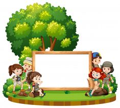 Blank sign with kids in park at daytime Free Vector Poster Background Design, Kids Background, Powerpoint Background Design, Cartoon Background, Boarder Designs, Frame Border Design, Page Borders Design, Art Drawings For Kids, Drawing For Kids