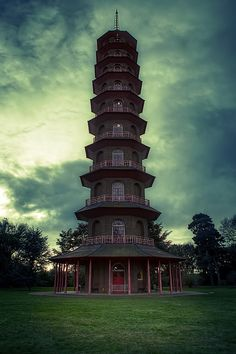the Chinese Pagoda in Kew Gardens. Completed in 1762 it was the tallest reconstruction of a Chinese building in Europe, standing at 163 feet high.