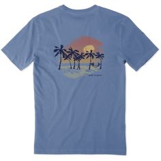 Shop Men's Sunset Palms Crusher Tee's at the official Life is Good® store. Get free shipping on orders over $49. 10% of net profits go to help kids in need.