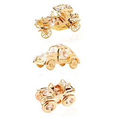 Matashi 24K Plated Collectible Vehicles Ornament Package with Genuine Matashi s