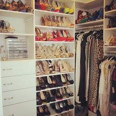 Every girl needs a shoe rack in her closet...marry a man...to build ya one!