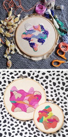 Abstract embroidery by Shea Goitia #hoopart #embroidery #embroideryart #abstractembroidery #stitching