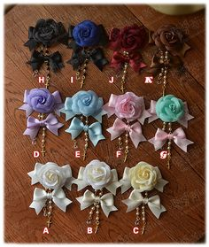 KIRAKIRA wild rose bow hair clips, multicolor into ~ customization, delivery dates to see Home - Taobao $4