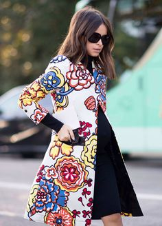 Miroslava Duma She hit up New York, Milan, Paris, and managed to do multiple outfit changes per day, all while pregnant. Plus, she showed off nearly every amazing coat option from Dries Van Noten to Valentino to Louis Vuitton. How could we not give her the win for the month?  Photo: YoungJun KOO/I'M KOO
