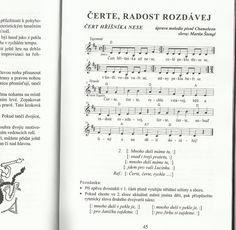 Čert hříšníka nese :-) Jen pro nas, toho by se deti baly :-D Ukulele, Sheet Music, Projects To Try, Songs, Song Books, Music Sheets