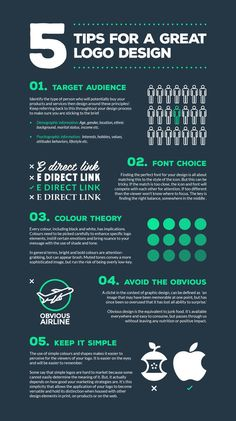 Great logo design is essential for every company | Infographic - 5 simple steps to creating a logo that will last.