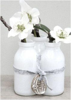 white - witte bloemen in huis