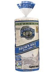 Lundberg Eco Farmed Brown Rice Cakes - Ingredients: Whole Grain Brown Rice, Sea Salt - we approve :)