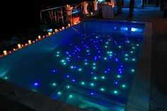 Pool party idea: Make any pool fun with submersible lights.