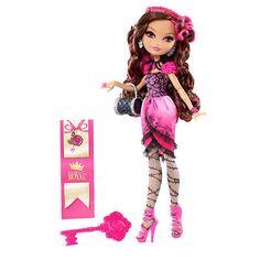 """Ever After High Royal Doll - Briar Beauty - Mattel - she comes with a bookmark that tells her hexclusive side of the story! The daughter of Sleeping Beauty is an adventurous royal """"it girl"""" who makes every waking moment count in a spellbinding,"""