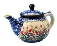 New Polish Pottery 1.5 CUP TEAPOT Boleslawiec CA Pattern 1437 European Stoneware | eBay