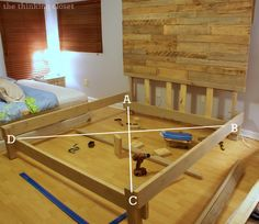 How To Build A Custom King Bed Frame Via Thinkingcloset.com. Squaring It Up