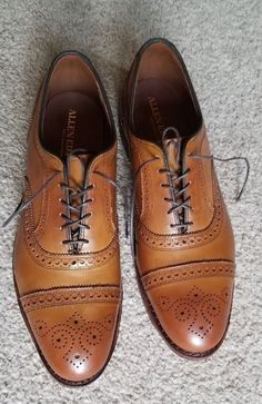 Clothing, Shoes & Accessories Men's Shoes Objective New Stuart Mcguire Brown Leather Shoes Size 13