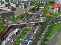 Vizualizace velkého městkého okruhu - etapa Žabovřeská. Ilustrační foto. Pictures