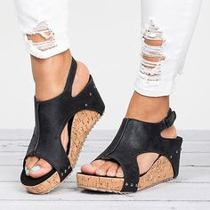 Women Sandals Peep Toe Wedges Shoes With High Heels Women Shoes Summer Sexy Platform Sandals Female Wedge Sandalias Mujer. Product ID: Shoes Heels Wedges, Peep Toe Wedges, Peep Toe Heels, Wedge Shoes, Women's Shoes, High Heels, Gladiator Sandals, Shoes Style, Flats