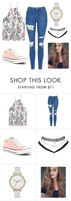 """""""Summer 17'"""" by fashionfreakyforreal ❤ liked on Polyvore featuring Topshop, Converse, Wet Seal and Skagen"""