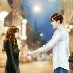 My Secret Romance Cute Couple Drawings, Cute Couple Cartoon, Cute Couple Art, Anime Love Couple, Anime Couples Drawings, Anime Couples Manga, Fantasy Couples, Romantic Anime Couples, Cute Anime Couples