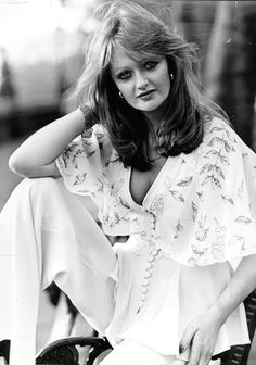 Bonnie Tyler poses for a portrait in 1976, the year her first single, Lost in France, reached the UK Top 10 - Picture: Associated Newspapers / Rex Features #bonnietyler #1970s #gaynorsullivan #gaynorhopkins #thequeenbonnietyler #therockingqueen #rockingqueen #1976 #music #rock