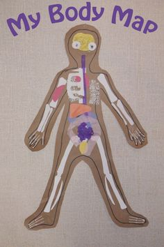 My Body Map - a great way to start teaching kids about their body. You could be as detailed as their age will handle