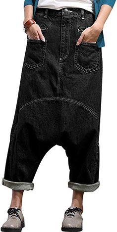 Harem Jeans, Harem Pants Fashion, Denim Pants, Women's Jeans, Trousers, Jeans Store, Baggy Clothes, Baby Dress Patterns, Wide Leg Denim