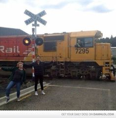 Photo Bombed By Moving Train - Damn! LOL