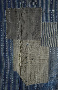 material pieces possibly quilted