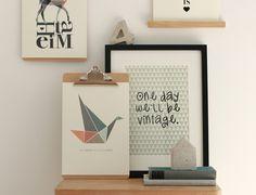 Digitaldruck - Poster VINTAGE DIN A4 - ein Designerstück von Heimwerk_Design bei…