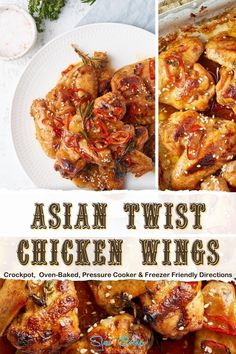 5-Minute, amazingly easy chicken wings in a crock pot! With slow cooker, oven-baked, pressure cooker, & freeze ahead directions! I hope this recipe helps you with your dinner preps and meal planning. Enjoy! | SlowCookerKitchen.com Wings Slow Cooker, Honey Bbq Chicken Wings, Slow Cooker Kitchen, Oven Baked, Freezer Meals, Crock Pot, Meal Planning, Yummy Food, Dinner