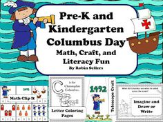 Columbus Day printable activities | math, craft, prompts, coloring pages