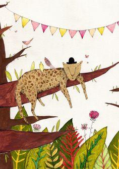 12 / Florencia Desalvo / Animales / from: La vuelta al mes en 30 ilustradores