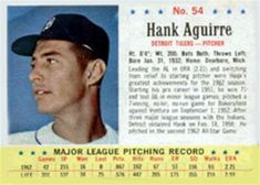 1963 Post Cereal #54 Hank Aguirre | The Trading Card Database Trading Card Database, Trivia, Cereal, Baseball, Baseball Promposals, Quizes, Breakfast Cereal, Corn Flakes
