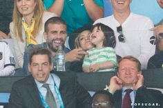 Pin for Later: The World Cup Final Was an A-List Affair  Gerard Piqué, Shakira, and Milan cuddled in the stands.