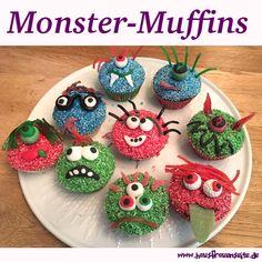 Monster-Muffins - taugt auch als Kindergeburtstagsrezept :) Utes Monster-Muffins sind der Renner auf jedem Kindergeburtstag oder Halloweenfest