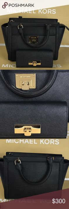 Michael Kors Black Lg Tz Satchel Leather M I C H A E L ❤️  K O R S  ❈ Condition: New With Tags  ❈ Reasonable Offers Always Welcome   ❈ Bundles are always encouraged to save on shipping.  ❈ Shipping Monday ➡️ Friday - Fast Same/Next Day  ❈ Everything I sell comes from my clean, smoke-free & pet-free home.   ❈ All items are 100% authentic! I stand behind everything I sell.  ❈ Questions? Comment below, I will be more than happy to assist you.  ❈ Michael Kors Bag & Tissue available upon request…