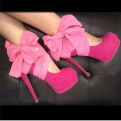 Pink sexy shoes