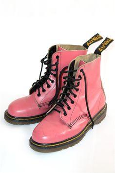 vintage pink leather Doc Martens
