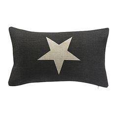 étoile en coton / lin taie d'oreiller décoratif pays – EUR € 11.81