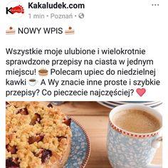 Smakowity wpis z przepisami już na blogu. Link w bio! A Wy co pieczecie najczęściej? Znacie inne proste i szybkie przepisy?  #przepis #przepisy #recipe #kakaludek #poznań #polska #deser #ciasto #ciastka #ciasta #cake #chocolate #applepie #spongecake