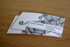 letterpress business cards inpiration