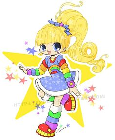 Rainbow Brite Chibi by YamPuff Anime Chibi, Manga Anime, My Little Nieces, Rainbow Brite, Digi Stamps, Disney Cartoons, Vintage Dolls, Sailor Moon, Childhood Memories