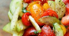 Cucumber Tomato Salad and Dressing