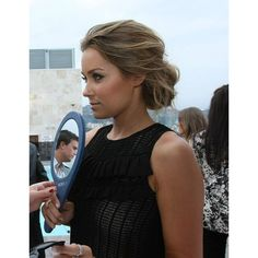 Lauren conrad messy low bun dark blonde Hair Makeup