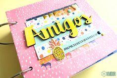Hoy os enseño un mini álbum muy sencillo de hacer, hecho con la colección Finders Keepers de Amy Tangerine Scrapbook Journal, Scrapbook Albums, Amy Tangerine, Personalised Calendar, Diy And Crafts, Paper Crafts, Mini Albums Scrap, Pocket Letters, Mini Books