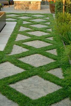Pave grass